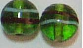 Art jewelry and craft supply wholesale presenting green rounded transparent glass beads. Perfect for every kind of jewelry making.